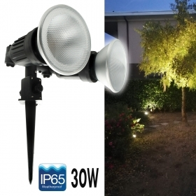 Phare de jardin spike double lampe réglable de tache de LED 30W PAR38 E27 IP65