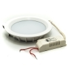 White spotlight recessed round LED panel modern 18W light, internal hole 170mm