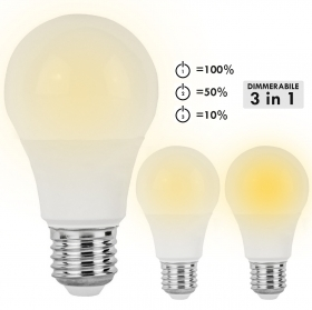 LED bulb 10W dimmable 3 in 1 E27 806lm low consumption yield 60W