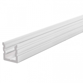 "Linear profile-flat ""HIGH U"" for led strips rigid bar under the roof mounting surface, various colors"