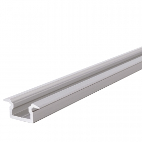 "Profile, recessed, wood-aluminium profile, linear slim for led strips ""FLAT, T-PROFILE, various colors available"