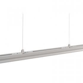 Aluminium profile, recessed, spring suspension, LED strips, profiled bar ceiling