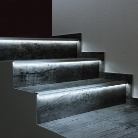 "Aluminum profile, non-slip floor light 90 degrees for steps, stairs ""Step Profile"" profile linear led strips"
