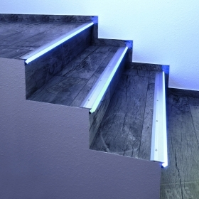 "Aluminium profile anti-slip light for steps, stairs ""Step Profile"" - profile linear floor space for led strips"