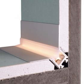 Aluminum profile corner outside recessed drywall corners save the edges to 2.5 meters led strip