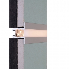 Aluminum profile recessed wood support strips, LED profile white or silver from 1250mm 2000mm 2500mm 3000mm