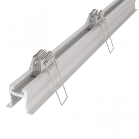 "Aluminium profile, recessed, wood, plasterboard, the ""ET-03-10"" profile adjustable holder for led strips with fins and spring"