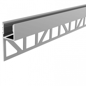 Aluminium profile, recessed, concealed tiled wall-ceiling support strips LED 36mm EL-03-12