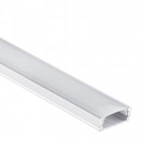 Aluminum profile, 1m strip led rigid bar with cover for led strip