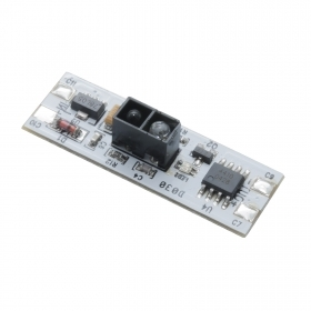 Switch sensor proximity IR profiles of power LED strip without touch