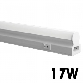 Led Neon t5 light fixture undercabinet 120cm 17w lamp reglette tube, natural light 4000k