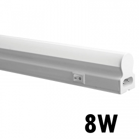 Led Neon t5 light fixture undercabinet 60cm 8w lamp reglette tube, natural light 4000k