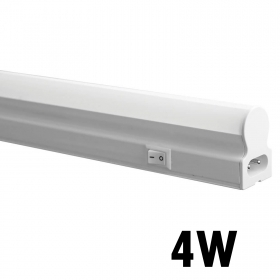 Led Neon t5 light fixture undercabinet 30cm 4w lamp reglette tube, natural light 4000k