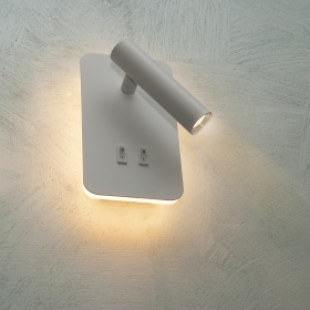 LED lamp wall sconces wall 6W light bedside reading adjustable 2-in-1