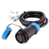 Female connector IP67 cable, 5-wire RGBW 1 meter 24V for lights LED wall washer lights