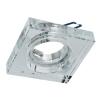 Portafaretto-mounted LED square mirror glass crystal hole 6cm lamp GU10