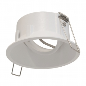 Portafaretto white round recessed 85mm ceiling diffuser adjustable GU10 GU5.3