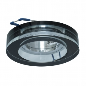 Portafaretto black, recessed, 60mm glass effect mirror lights, LED ceiling GU10