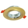 Portafaretto round gold glitter flush-mounted 75mm light ceiling lamps LED GU10