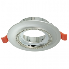 Portafaretto round silver glitter flush-mounted 75mm light LED ceiling GU10 GU5.3