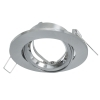 Port downlight adjustable round silver recessed 80mm support LED lamps GU10