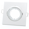 Port spotlight square adjustable white recessed ceiling lamps GU10 hole 8cm