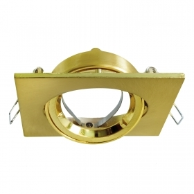 Port spotlight square adjustable swivel gold recessed ceiling 80mm support LED GU10
