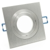 Port spotlight-swivel silver silver square recessed ceiling 8cm LED GU10