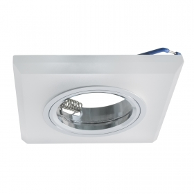 Port downlight fixed satin-fin