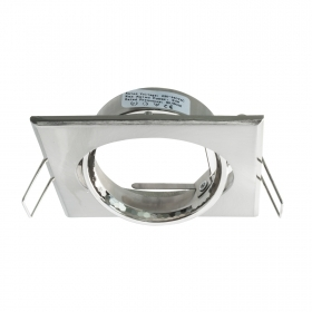 Port spotlight square silver collection 7cm led ceiling lighting bracket lamps GU10