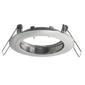 Port spotlight fixed round recessed plasterboard 6cm silver LED lamps GU10 GU5.3