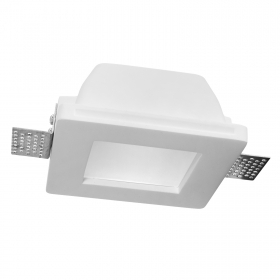 Port spotlight of plaster and glass square built-in white light LED concealed ceiling