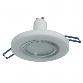 LED spotlight 8W lamp GU10 white glass recessed round 60mm light ceiling 230V