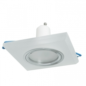 Downlight square glass LED spot lamp GU10 5W recessed 6cm showcases light targeted