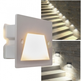 Spotlight segnapassi 3W LED flush-mounted box 503 light garden avenue stairs IP65