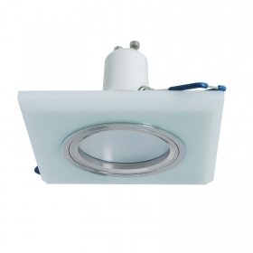 Spotlight square recessed glas