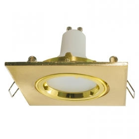 Spotlight golden adjustable recessed square 8cm light LED spot light LED 5W GU10 showcases