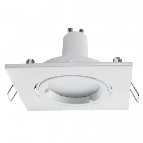 Downlight adjustable square wh