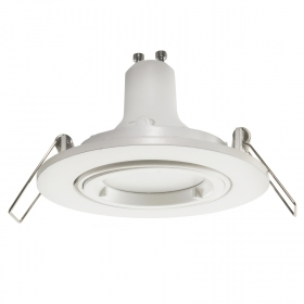 Lights ceiling kitchen spotlight bulb white 5W LED GU10 recessed round 80mm