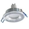 Spotlight modern round silver glitter collection 7cm lights ceiling LED 8W GU10