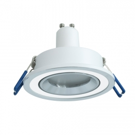 Led downlight led round double color white silver LED 8W GU10 light ceiling kitchen 7cm