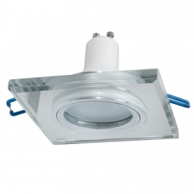 LED spotlight built-6cm square mirrored glass lamp 5W GU10 spot light showcase