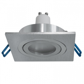 Downlight square silver LED lamp 5W GU10, recessed lights showcase the shop 8cm