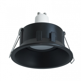 Downlight round adjustable recessed modern black light LED 5W GU10 showcases 85mm