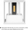 Applique LED 6W wall-mounted adjustable IP65 outdoor use/interior color white 3000K