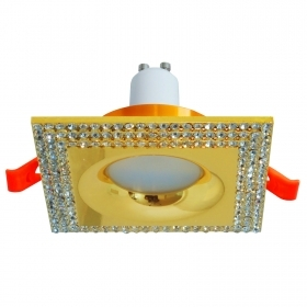 Classic downlight square recessed gold glitter 65mm LED lamp 5W GU10