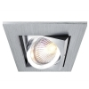 Spotlight silver square built-in dual-angle LED 5W GU10 lighting office