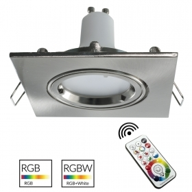 Led downlight led silver squar