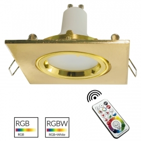 Spot light bulb gold coloured light square recessed 8cm LED GU10 RGB games light shop