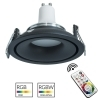 LED spotlight RGB built-9cm round black lamp GU10 light colored home pub bar